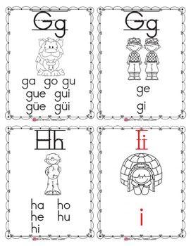 Spanish Alphabet Flashcards Alphabet Flashcards Spanish Alphabet Flashcards