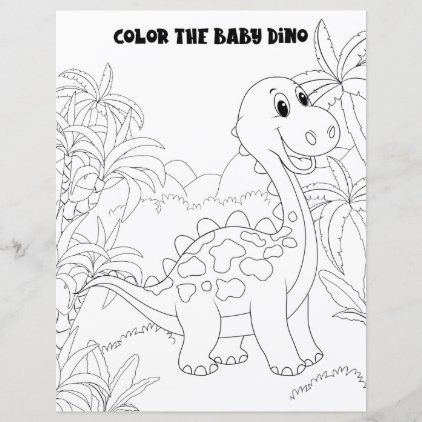 Kids Activity Cute Fun Dinosaur Coloring Page Dinosaur Coloring Pages Dinosaur Coloring Free Kids Coloring Pages