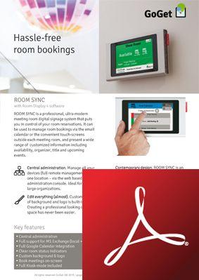 Meeting room schedule tablet display - Robin Rooms | TAKEDA ...