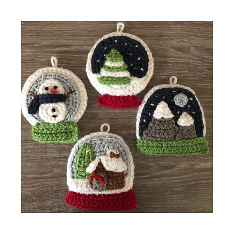 Snow Globe Christmas Ornament Crochet pattern by Amy Gaines