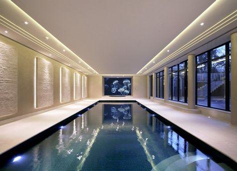 indoor pool bauen – 50 traumhafte schwimmbäder   dekoration ideeen, Design ideen