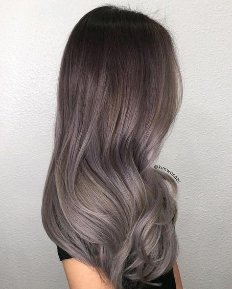 Silver Smoke. Used @guytang_mydentity Big9 Creme Lightener and @olaplex to lift her dark Asian hair. Glazed with #mydentity Demi…