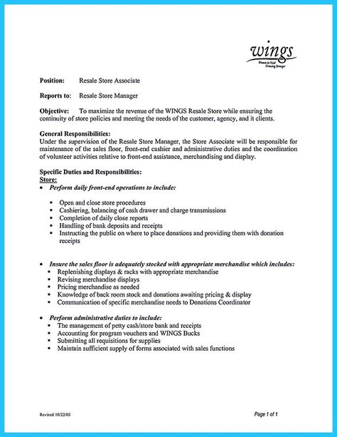 cool Crafting a Great Assistant Store Manager Resume, Check more at