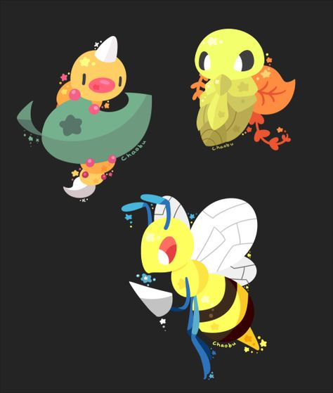 chaobu:  #013 - #015: Weedle LineNot the Bee(drill)s!   Art...