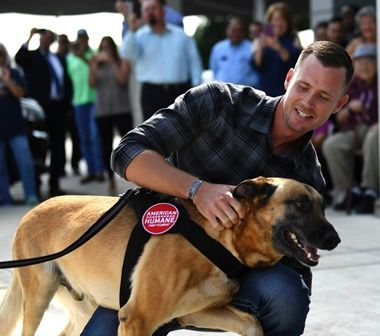Former Military Trainer Retired Dog Reunited In San Antonio