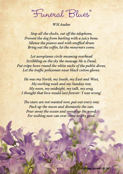 Funeral Poem Four Candles
