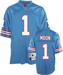 905d1028d Warren Moon Houston Oilers Light Blue NFL Premier 1990 Throwback Jersey   134.99 http