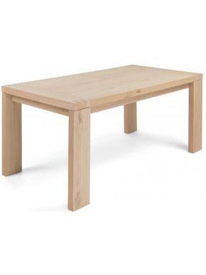 Tavolo Legno Rovere Naturale.Affascinate Linea Moderna Per Questo Tavolo Allungabile In Legno