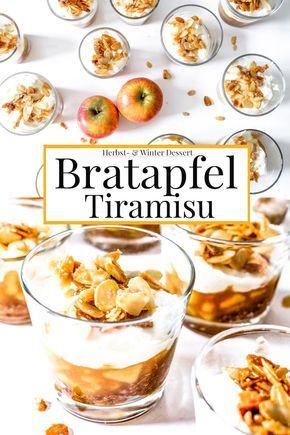 Köstliches Herbst- Winter Dessert: Bratapfel Tiramisu   #bratapfel #tiramisu #dessert #nachtisch