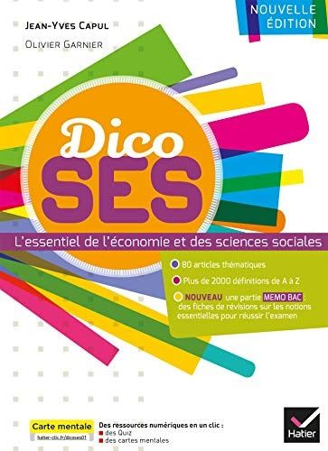 Telecharger Dico Ses Dictionnaire D Economie Et De Sciences Sociales Livre Ebook France Magnolia Book Ebook Ebook Pdf