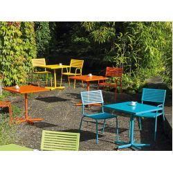 Campingtisch Gartentisch Nizza Klappbar Alu Silber Blau