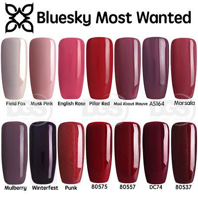 Bluesky Most Wanted 2018 Winter Range Uv Led Soak Off Gel Nail Polish 10ml Hard Gel Nails Gel Nail Extensions Bluesky Gel Polish