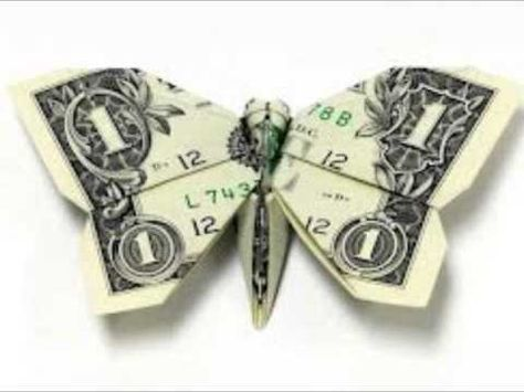 How To: Origami money butterfly - YouTube