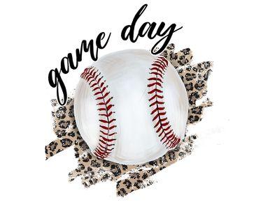 Game Day Baseball Leopard Sublimation Shirt Digital Png Sublime Printed Backdrops Printable Print