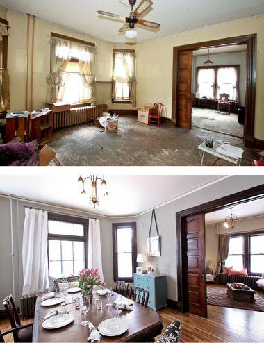 HGTV's 'Rehab Addict' gives tips on restoring old houses The value of an historic home is largely in its historic features. Remove or cover those up and you destroy the value of the home. Photos courtesy of Nicole Curtis Old Home Renovation, Old Home Remodel, Bath Remodel, Farmhouse Remodel, My Living Room, Living Room Decor, Small Living, Bedroom Decor, Modern Living