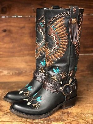 abcebb59b0d2c Details about Corral Women's Black Eagle Overlay & Embroidery ...