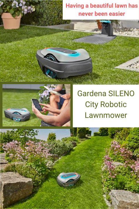 Gardena Smart Sileno City Robotic Lawnmower Set Gadget Com In 2020 Gardena Lawn Mower Mowing