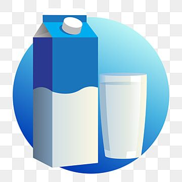 Blue And White Milk Carton Box And A Glass Of Milk Milk Clipart Drink Milk Png And Vector With Transparent Background For Free Download Carton Box Instagram Logo Blue And White