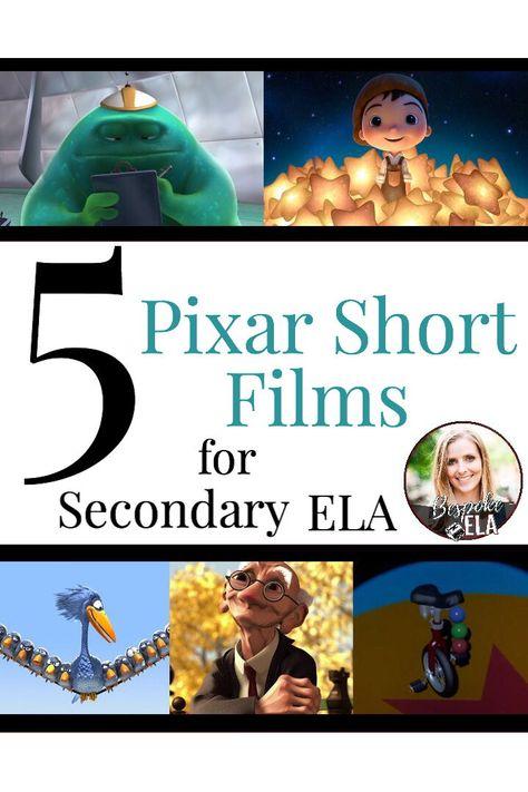English teacher high school - 5 Pixar Short Films to Use in Secondary ELA – English teacher high school Middle School Ela, Middle School English, High School, 7th Grade English, 8th Grade Ela, Ninth Grade, Seventh Grade, Teaching Secondary, Teaching Themes