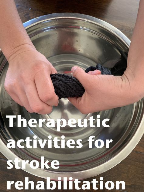 Stroke Therapy, Ot Therapy, Hand Therapy, Therapy Ideas, Physical Therapy, Geriatric Occupational Therapy, Occupational Therapy Assistant, Occupational Therapy Activities, Stroke Recovery