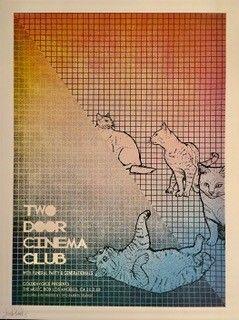 Poster Barn Two Door Cinema Club Two Door Cinema Club Concert Posters Psychedelic Poster