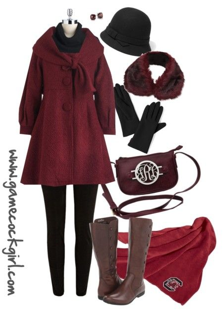 Gamecock Girl Gameday Look - Cold Weather Cutie