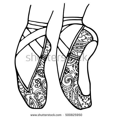 Pointe Shoes Coloring Pages Super Coloring Pages Ballerina