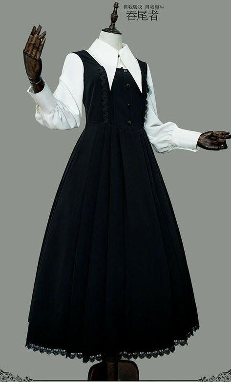 8e06bf3a27c9c8 Ouroboros -Joanne- Vintage Gothic Lolita Jumper Dress - #dress #Gothic  #Joanne #Jumper #Lolita #Ouroboros #Vintage