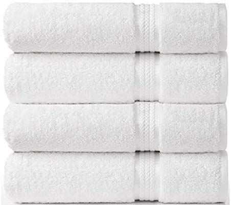 White Bath Towels Sets Pack Of 4 Heavy Weight Oversize 28 X 55