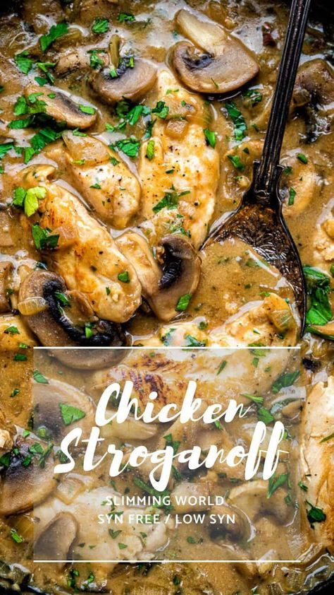 Everyone will fall in love with this Chicken Stroganoff – easy, quick and thoroughly yummy. No one will know that this is a Slimming World chicken recipe!