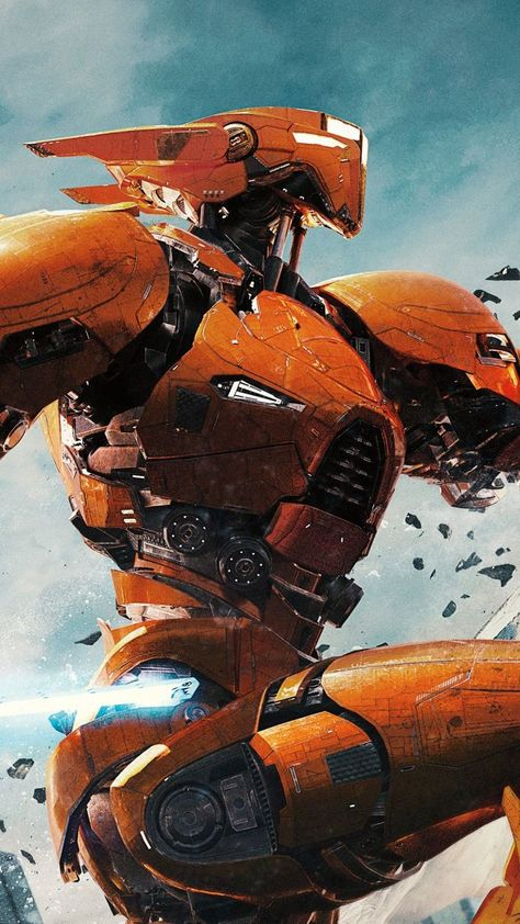 mind-blowing wallpaper Pacific Rim 2 movie giant yellow robot 7201280 wallpaper