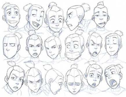 Best Drawing Faces Anime Facial Expressions Character Design References Ideas Drawing Expressions Character Design References Drawings