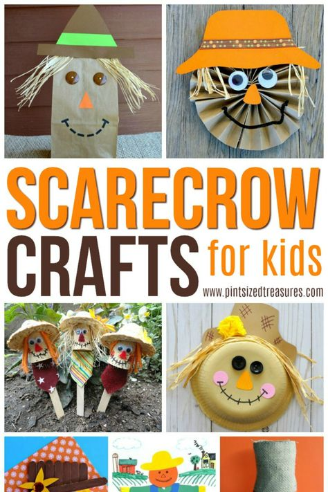 Easy Scarecrow Crafts for Kids · Pint-sized Treasures