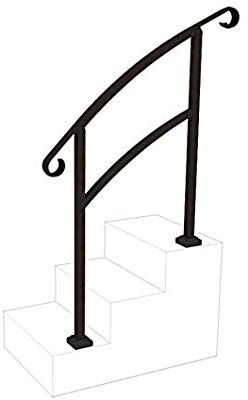 Instantrail 3 Step Adjustable Handrail Black Amazon Com | 3 Step Stair Railing | Manufactured Home | Basic Deck | Residential Stair | 2 Bar | Three Step