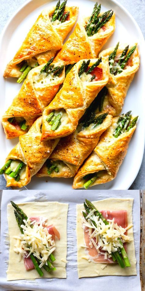Prosciutto asparagus puff pastry bundles appetizer dinner ideas appetizer asparagus bundles dinner dinnerideas ideas pastry prosciutto puff schweinefilet in curry sahne Brunch Recipes, Easy Dinner Recipes, Easy Meals, Puff Pastry Dinner Recipes, Yummy Easy Dinners, Puff Pastry Recipes Savory, Puff Pastry Appetizers, Puff Pastry Desserts, Pastries Recipes