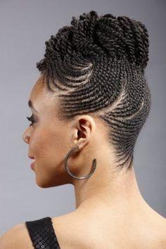 Tresse africaine avec cheveux naturel en 2019