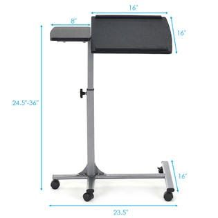 Gymax Gys02009 Adjustable Angle Height Rolling Laptop China High Quality Adjustable Laptop Table In 2020 Adjustable Laptop Table Laptop Table Adjustable Height Table