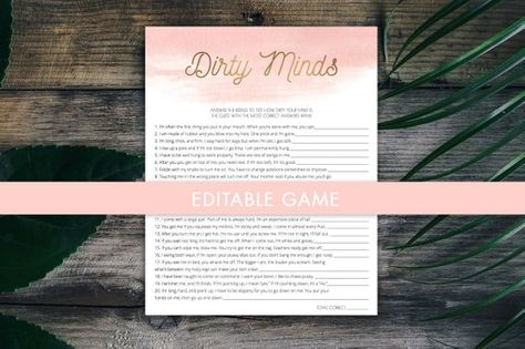 naughty bachelorette game editable shower games hens party game dirty minds what am