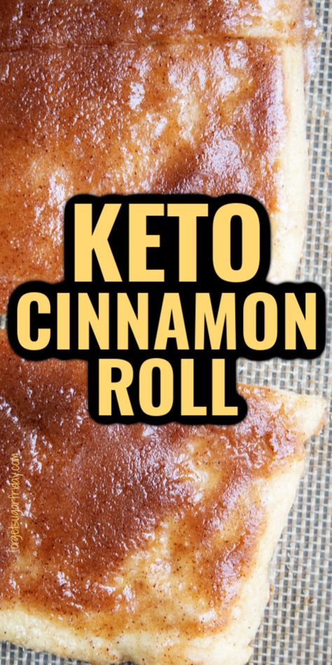 You'll definitely want to get up in the morning with this easy keto breakfast recipe: Keto Cinnamon Roll bread! Instead of the hassle of rolling cinnamon rolls, this sweet keto bread tastes just as good with less effort. It's made with fathead dough and can be served with keto icing or without. Only 2.6g net carbs per slice! This can also be served as a sweet keto snack. Low Carb Desserts, Low Carb Recipes, Keto Cake, Healthy Food Options, Keto Cookies, Low Carb Breakfast, Ketogenic Recipes, Keto Snacks, Low Carb Keto