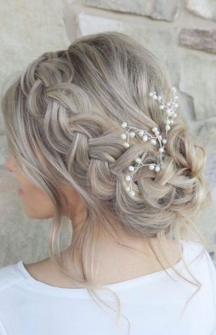 68 Super Ideas For Wedding Hairstyles Medium Length Casual Hair Styles Long Hair Styles Wedding Hair Inspiration