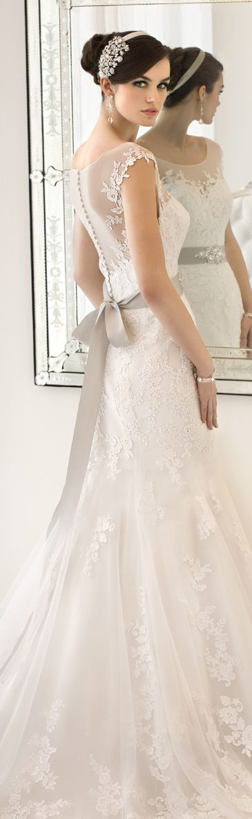 love this Wedding dress #country wedding Wedding ideas for brides, grooms, parents & planners. It would go perfect with our SV Couture Bracelet in Clear Crystal and Rhodium! http://www.saintvintage.com/ProductDetails.asp?ProductCode=SVB1C