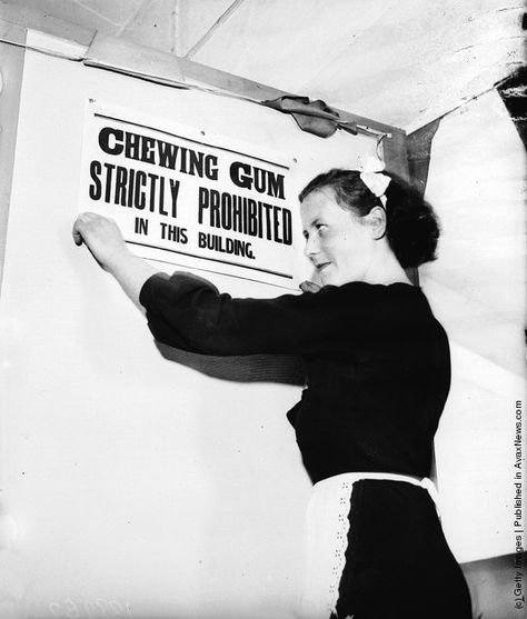 1936: A Penarth dance hall has banned chewing gum on the premises because dancers have complained that their feet keep sticking to the floor