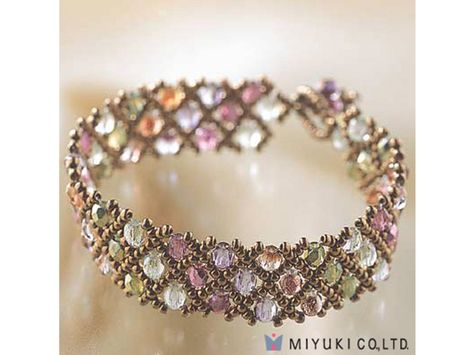 Jewelry Making Beads Create Your Own DIY Miyuki Glass Bead Bracelet Kit - Woven Net Pattern - Bracelet Making Kits - Jewelry Kits - Jewelry Making Kits