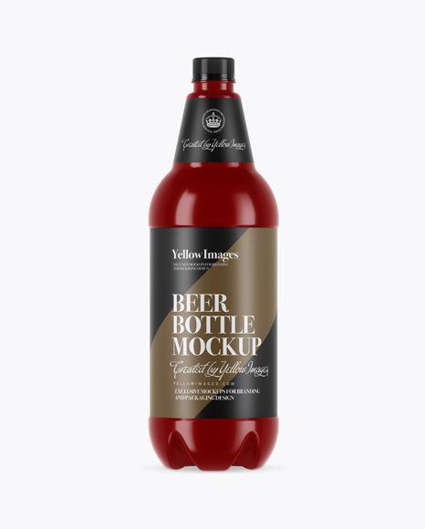 Glossy Pet Beer Bottle Mockup In Bottle Mockups On Yellow Images Object Mockups Bottle Mockup Mockup Psd Mockup Free Psd