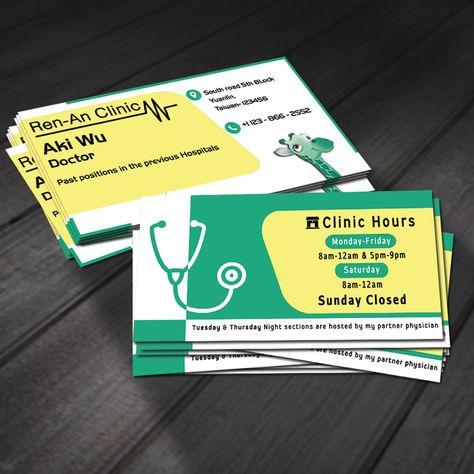 Freelance A Business Card For A Pediatrician Clinic By Jabayul Business Cards Business Card Design Custom Business Cards