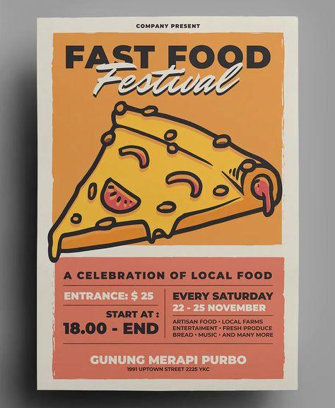 Fast Food Flyer Design Template