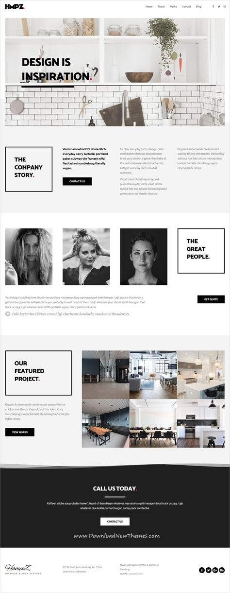 Hampoz is clean and modern design 6in1 responsive #WordPress theme for #interior design and #architecture agency #website to download & live preview click on image or Visit 👆