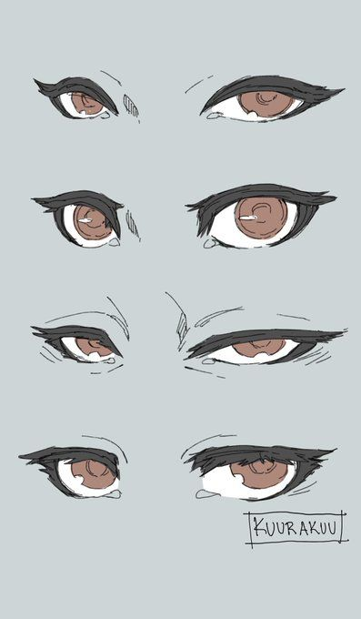 Anatomy Sketches, Anime Drawings Sketches, Anime Eyes Drawing, Anime Drawing Tutorials, Cute Eyes Drawing, Face Drawings, Digital Painting Tutorials, Digital Art Tutorial, Art Tutorials