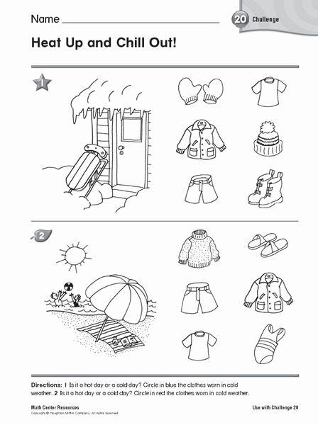 Hot And Cold Worksheet For Kindergarten Kindergarten Worksheets Weather Worksheets For Kindergarten Kindergarten Worksheets Free Printables Weather math worksheets preschool