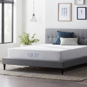 Lucid Comfort Collection 10 In Queen Gel Memory Foam Mattress Plush Lucc10qq30gf The Home Dep In 2020 Gel Memory Foam Mattress Mattress Sizes Memory Foam Mattress